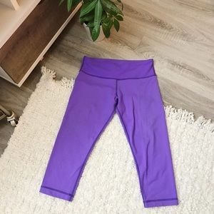 Lululemon Cropped Zig-Zag Leggings Yoga Workout